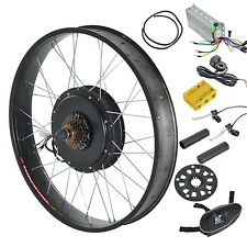 "Electric E Bike Bicycle Conversion Kit Hub Motor Front Wheel 26"" 1000W 48V Hub"