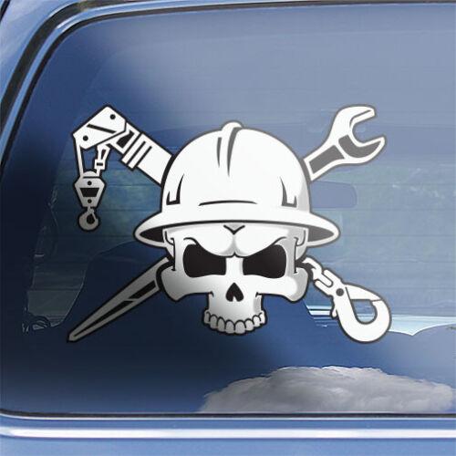 Rigger Crossbones Decal industrial material rigging crane rigger skull sticker