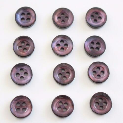 Conjunto de 12 púrpura trémulo Botones Camisa Pequeña Petite Tiny Little Clásico 9mm