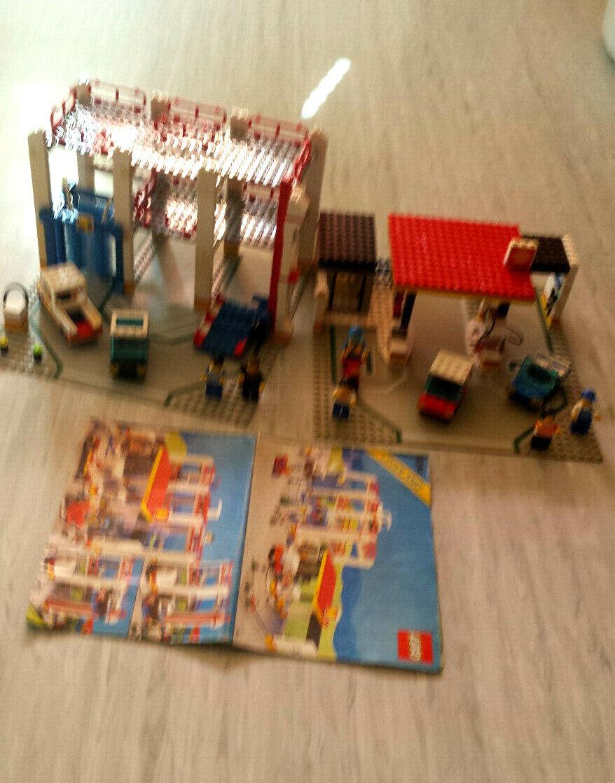 Lego 6394 - Tankstelle m. Parkhaus Waschstrasse Autos usw. Retro Gebäude