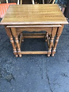 Image Is Loading Pennsylvania House Furniture Solid Oak Vintage Nesting Tables