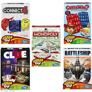 284876e80dfae Hasbro Viaje Grab   Go Juegos Connect 4 Monopoly Barco de Guerra ...
