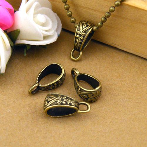 8Pcs Tibetan Silver,Gold,Bronze Charm Pendant Bail Connector Fit Bracelet M1101