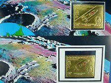 Raumfahrt Space 1969 Yemen Jemen Gagarin Gold 875 A/B Perf + Imperf MNH/715