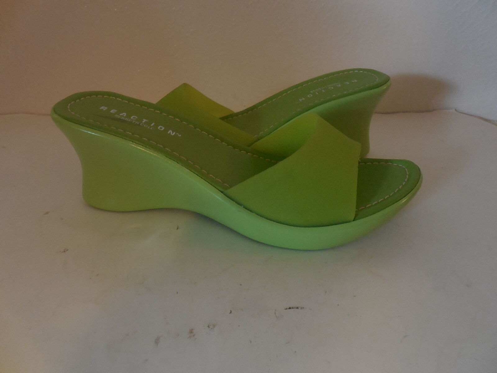New Sz.39/9 Kenneth Cole Reaction  Wedges Platform Green Sandale (Made in )