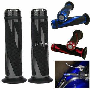 """7//8/"""" Motorcycle Handlebar Hand Grips Gel For Yamaha YZF R1 R6 Suzuki GSXR600 750"""