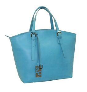 Image Is Loading Leather Bag Caleidos Model Bucket U208b Turquoise