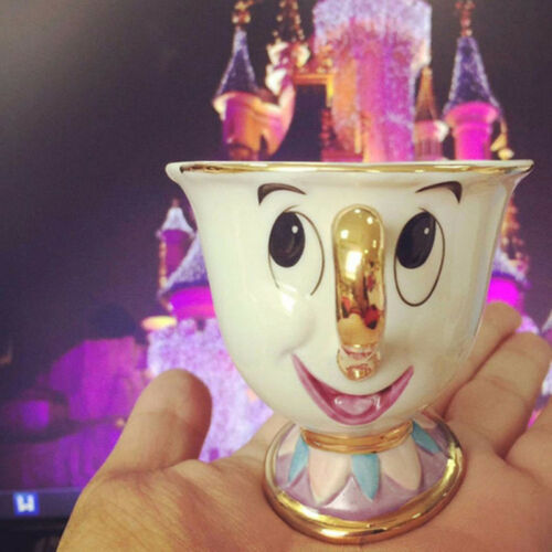 New Cartoon Beauty And The Beast Teapot Mug Mrs Potts Chip Tea Pot Cup One Set L