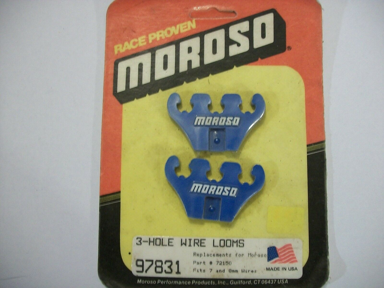 FITS 7 AND 8MM WIRES MOROSO PERFORMANCE PRODUCTS 3-HOLE WIRE LOOMS 97831