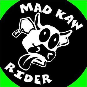 Mad-Kaw-Rider-cow-bull-decals-stickers-ninja-zx6-kx85-Ninja-300-muel-vulcan-250