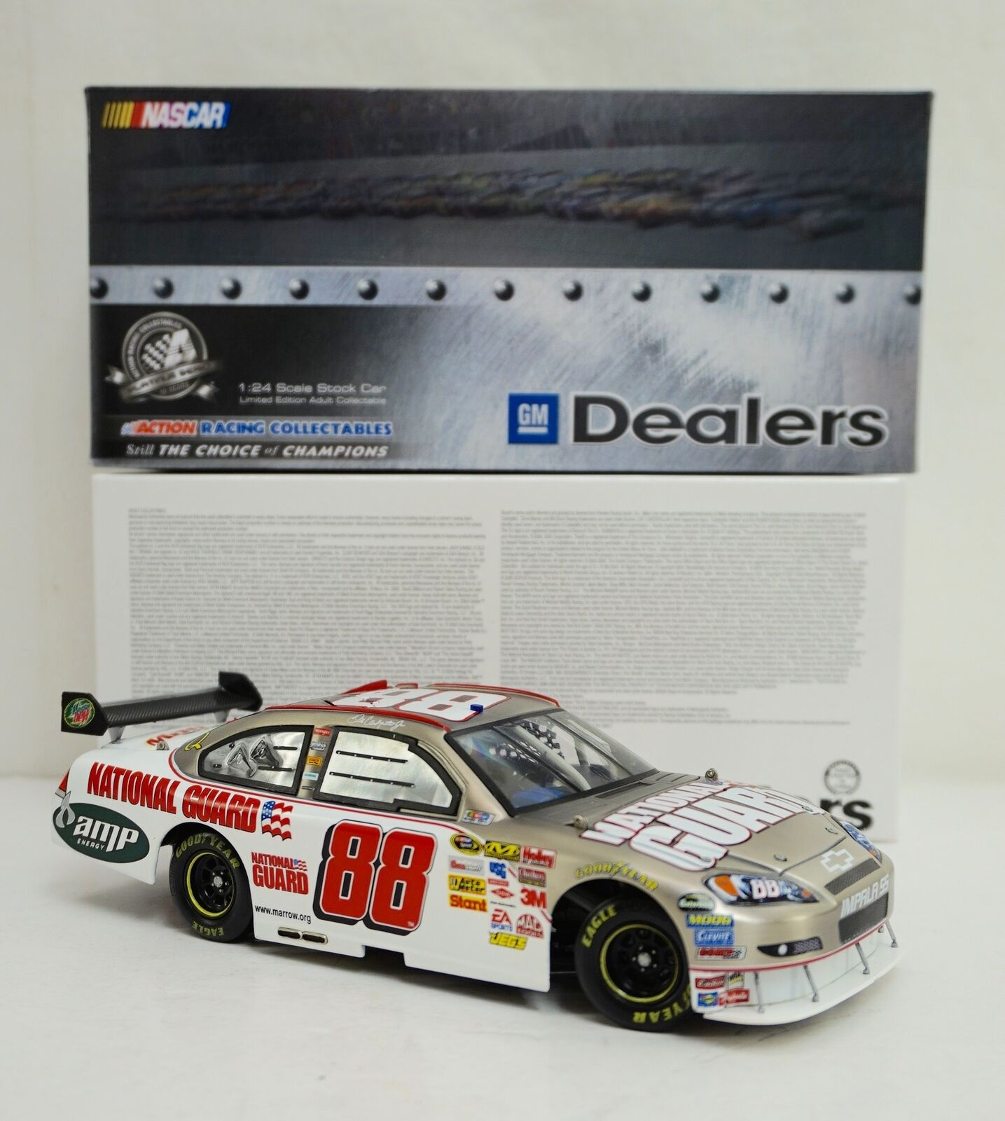 GM Dealers Diecast  Dale Earnhardt Jr - Brushed Metal National Guard