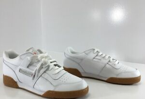 Details zu Reebok Mens Classic Leather Athletic Lace Up Shoes WhiteTan Sz US:10.5 NEW #
