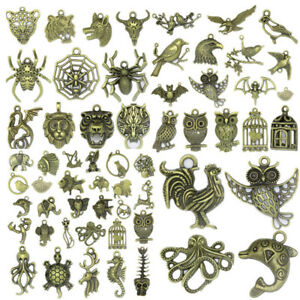 70-Styles-Animals-Vintage-Antique-Bronze-Charms-Pendant-Jewelry-DIY-Making