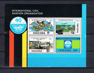 Tansania-1984-Block-38-Luftfahrt-Flugzeuge-postfrisch