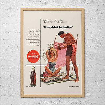 Vintage Kitchen Ad Retro Mid-Century Coca-Cola Ad RETRO COKE AD Poster Ret