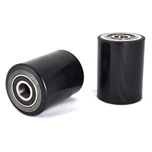 X2 D80 X W90mm Negro P//u y núcleo de acero transpaleta de carga Rodillos//Ruedas