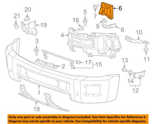 GM OEM Front Bumper-Inner Bracket Left 22774466