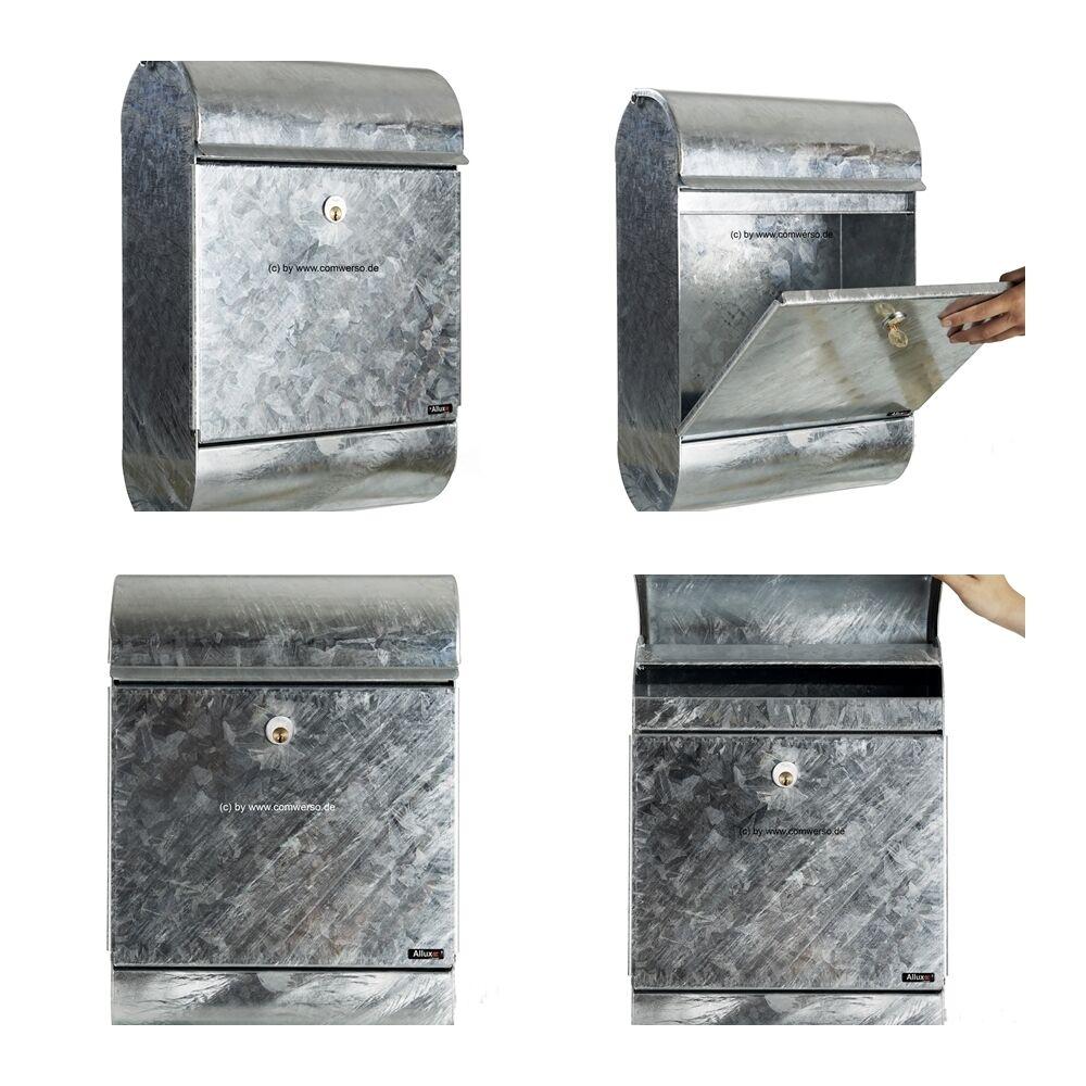 Briefkasten Allux 9000 feuerverzinkt mit Rukoschloß