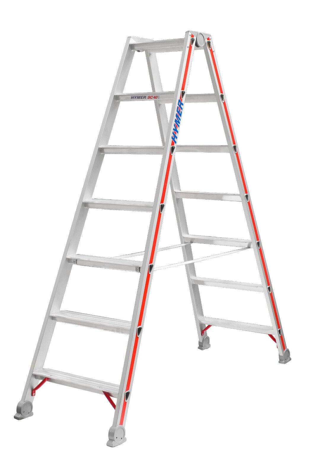 Stufenstehleiter Leiterlänge wählbar Aluleiter beidseitig begehbar
