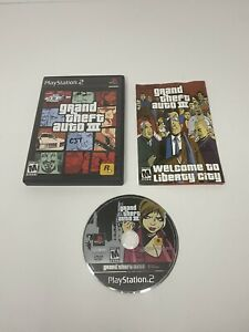 Grand Theft Auto III (Sony PlayStation 2) PS2 GTA 3 Game With Manual Tested
