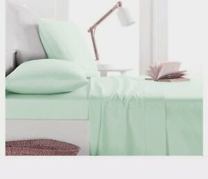 1000TC-Egyptian-Cotton-ROUND-BED-SHEET-SET-Sateen-Solid-Mint-Green
