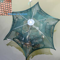 12 Holes Umbrella Heavy Duty Foldable Trap Cast Fishing Shrimp Minnow Net 95x95