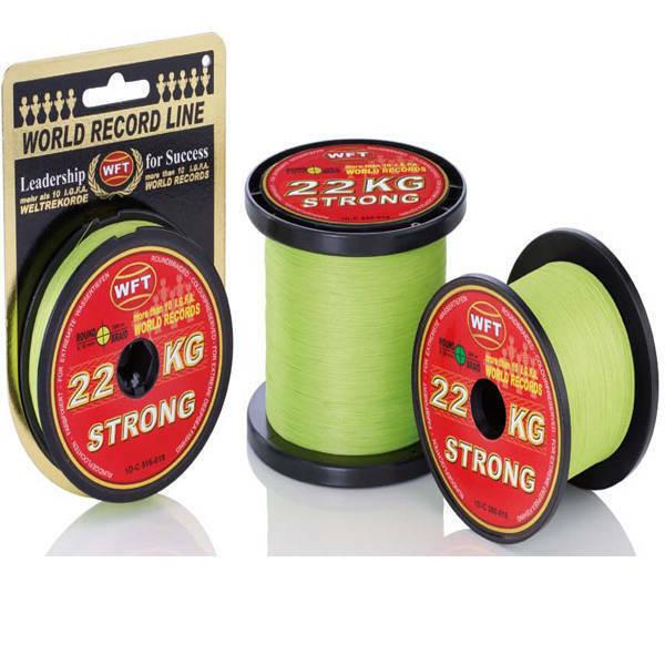 WFT kg STRONG Chartreuse 300m Bobina di filo intrecciato selezione 15,22,32,39,51kg