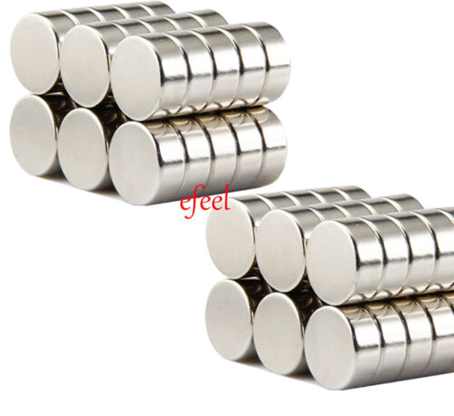 10 Neo Strong 5mm x 5mm Rare Earth Neodymium Disc Magnets N35 Grade