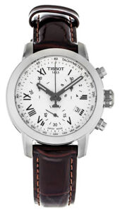 Tissot-PRC-200-Chronograph-Brown-Leather-Women-039-s-Watch-T0552171603301