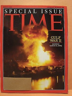 TIME MAGAZINE MARCH 31 2003 SPECIAL ISSUE GULF WAR 2 BAGHDAD MARCH 21 2003