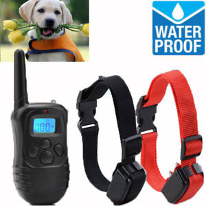 Rechargeable-1000-Yard-2-Dog-Shock-Training-Collar-Pet-Trainer-w-Remote-4-Modes