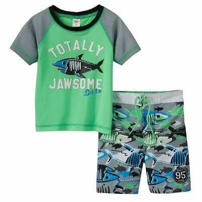 Osh Kosh B/'gosh Infant Boys Surf Dude Rashguard Set Size 12M