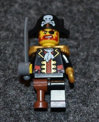 LEGO MINIFIG PIRATE CAPTAIN with HOOK and WOODEN LEG