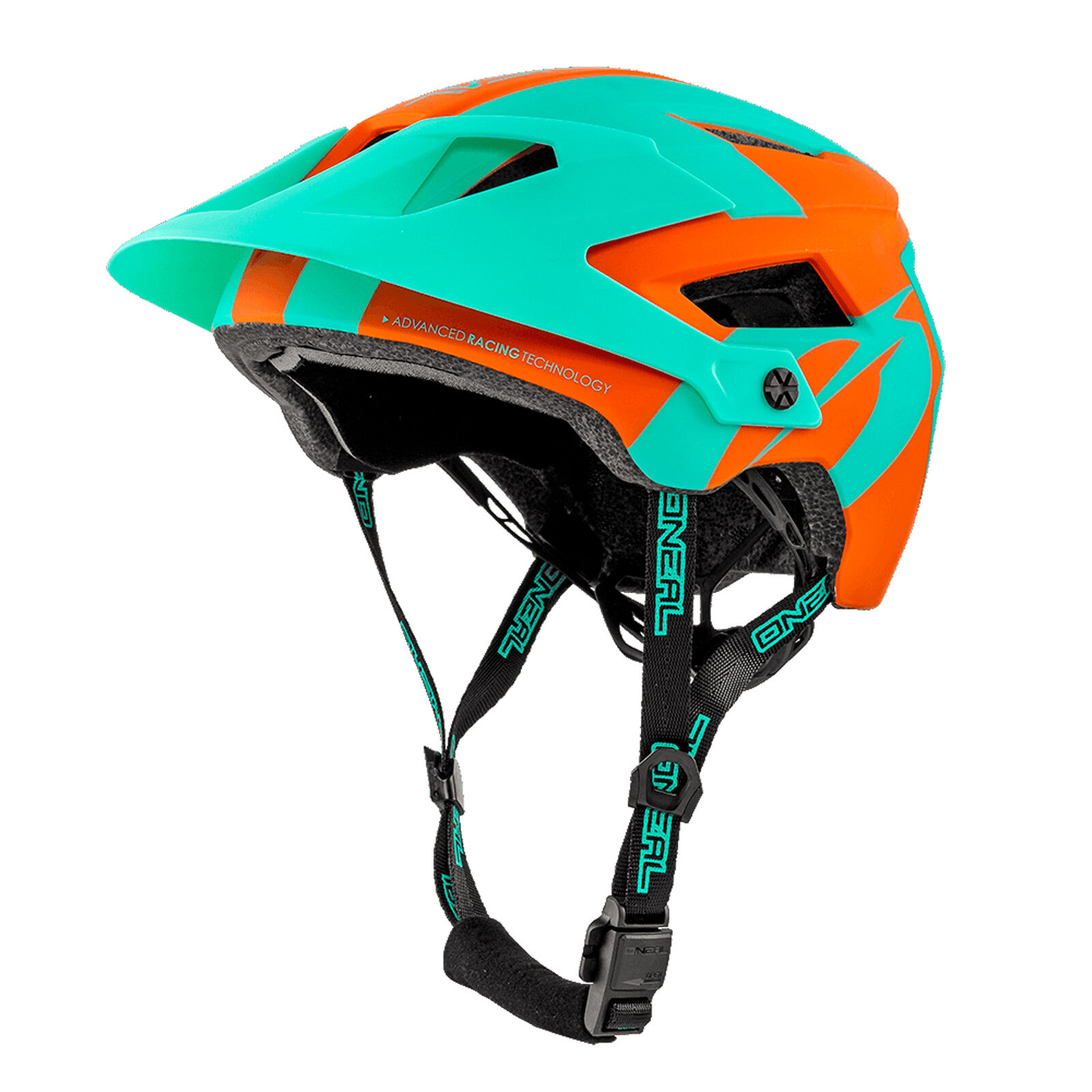O 'Neal Defender 2.0 Sliver ALL MOUNTAIN MTB BICICLETTA CASCO arancioneturchese 2019 ONEA