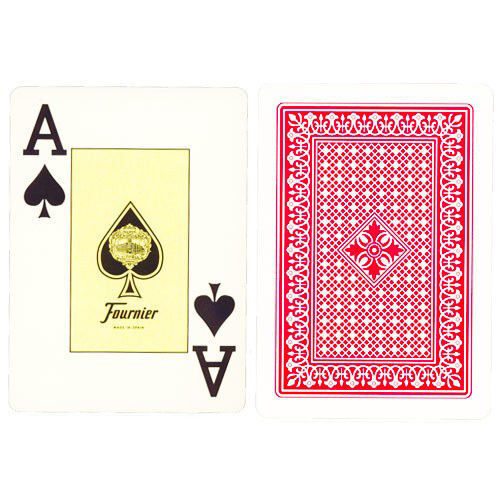 12 DECKS FOURNIER 818 PLASTIC COATED POKER PLAYING CARDS 6 RED 6 BLUE BOX CASE