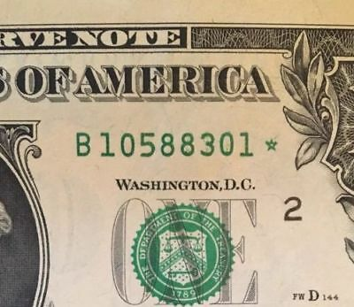 1 ONE ✯ STAR NOTE $1 Dollar Bill UNCIRCULATED SEQUENTIAL CRISP from BEP PACK