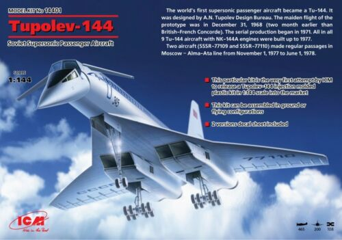 ICM 1/144 Tupolev Tu-144 # 14401 Modelbouw, accessoires