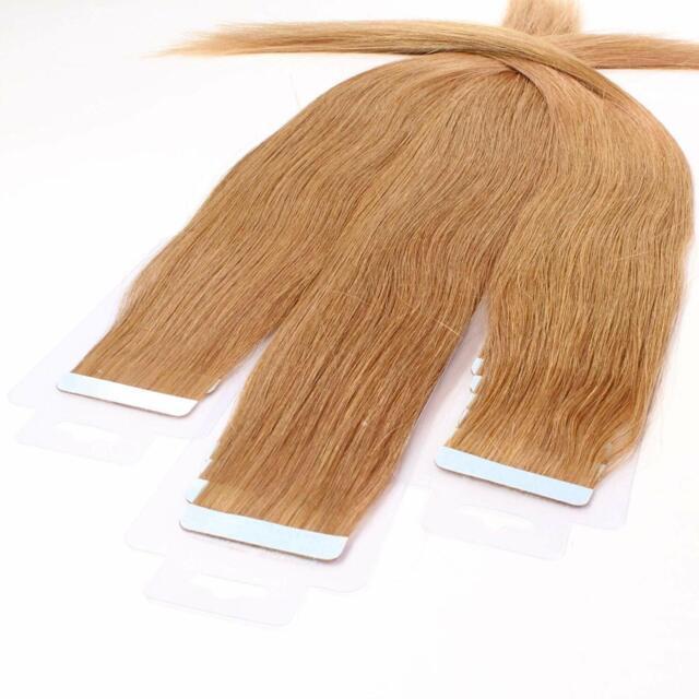 """Proprio bella Remy Hair 30 x 2.5 G estensioni Nastro – 20"""". #12 marrone dorato."""