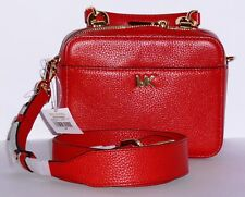 c60f481bc65b Authentic Michael Kors Bright Red Mott Pebble Leather Top Handle Crossbody  Bag