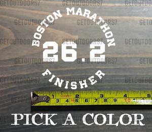 "Boston Marathon Sticker 3.5/"" Decal Finisher 26.2 13.1 Half Bumper Window XO"