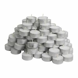 IKEA-Glimma-Pack-Of-50-Tea-Lights-Candles-4-Hours-Burning-Time-38mm-Wide