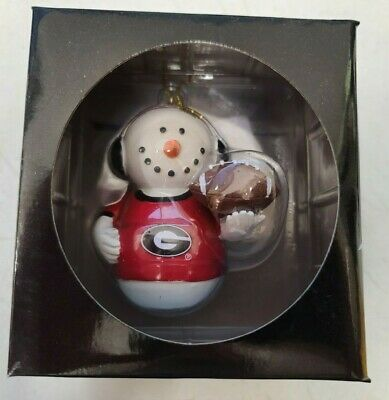 Personalized Licensed Collegiate Football Sports Christmas Ornament Georgia