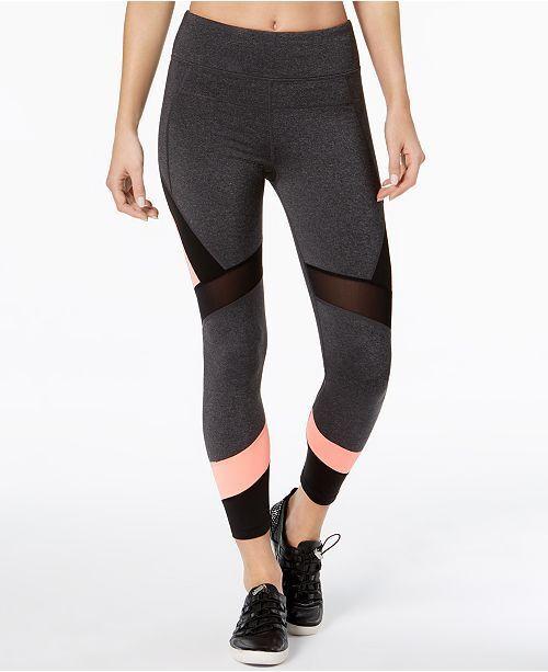 Calvin Klein Women S Xs Performance High Waist Colorblocked Leggings Sweats Heat For Sale Online