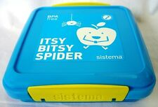 Sistema Blue Klip It Sandwich Box Container 450ml Lunch School New