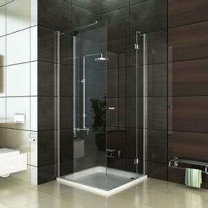design ecke duschkabine echtglas duschabtrennung 80x80 90x90 100x100 dusche esg ebay. Black Bedroom Furniture Sets. Home Design Ideas
