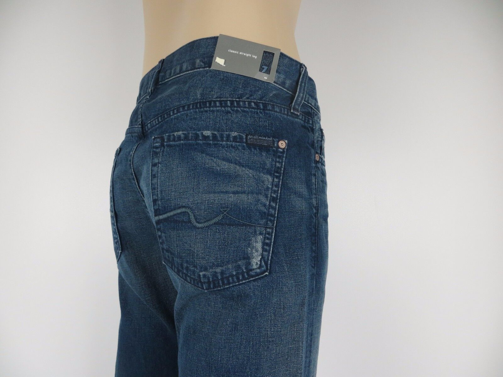 NWT 7 Seven For All Mankind, Men's Jeans, Standard, Straight Leg, PRSN, Size 31