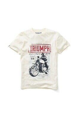 BNWT GENUINE TRIUMPH MOTORCYCLE BLUE MEN/'S DEALER SHORT SLEEVED SHIRT SIZE XL