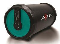 Axess Indoor/outdoor Hi-fi 3 Green Cylinder Bluetooth Speaker Spbt1030-grn on sale