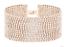 Nueva Navidad oro tono plata pulsera del Rhinestone amplia declaración fiesta vendedor del Reino Unido