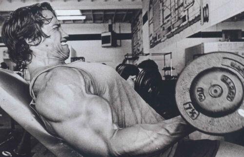 Photo Poster art Bodybuilding Encadrée Imprimer-Arnold Schwarzenegger working out
